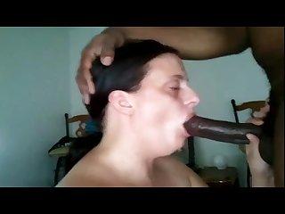 White chubby woman deepthroat