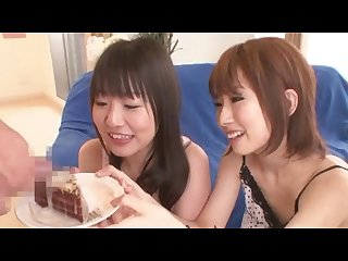 Yui misaki eating cake with cum