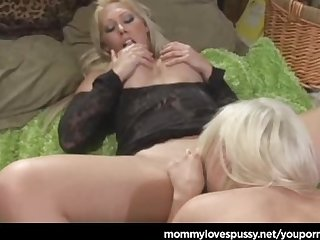 Milf blonde busty lesbians