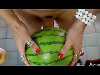 Lana cd fucks a watermelon 2