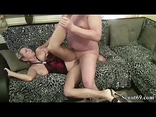 Blonde milf Drunk with wine jungleofsex com