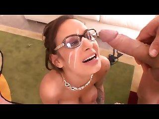 Cum on glasses compilation