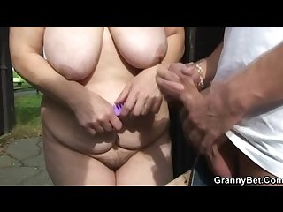 Ride my cock hard old blonde slut!