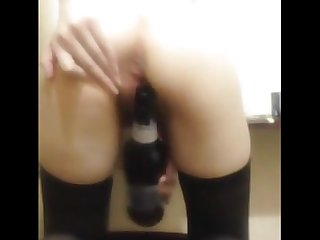 Pleasing myself with a bottle