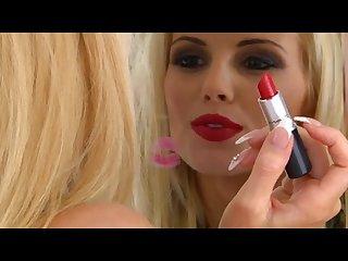 Gemma hiles red lipstick