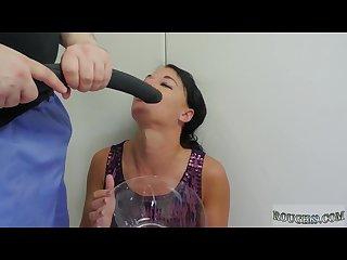 Bondage anal gangbang wife and leather bondage fuck and brutal painful