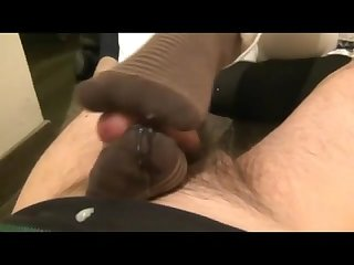 Bootjob and amazing sockjob with cumshot ending