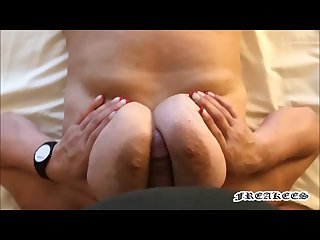 She make a Great Titjob and then sucks his Cock - ** Freakees - Titjob **
