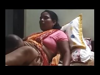 Indian Desi maid sucked by owner