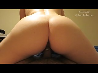 Slow creamy riding with creampie and quickie