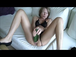 My dp masturbation with 2 cucumbers
