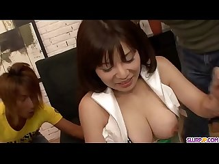 Karen Natsuhara loves a big cock choking her - More at Slurpjp.com