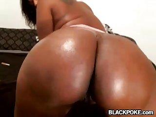 Pierced nipples ebony teasing on cam