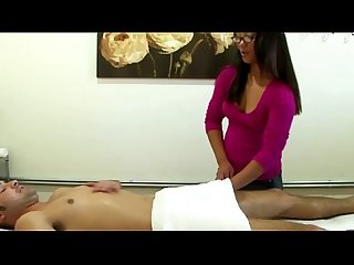 Real asian masseuse bounces on dick and sucks with pleasure