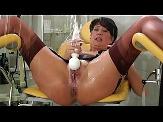Incredible squirting mature lady