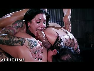 ADULT TIME Angela White & Joanna Angel ANAL Oil Squirt Hardcore Fuck!