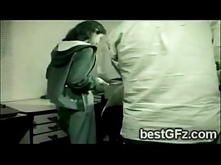2 Lesbian gf got caught going naughty at the office-1204-1