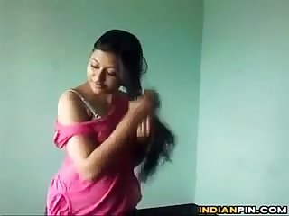 Indian Ex Girlfriend Does A Striptease
