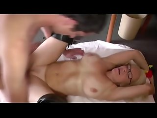 Milf gets fucked an creampie for money
