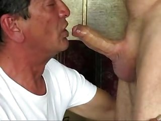 Sucking beautiful cock