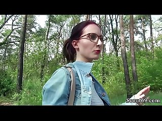 German scout college redhead teen lia in public casting