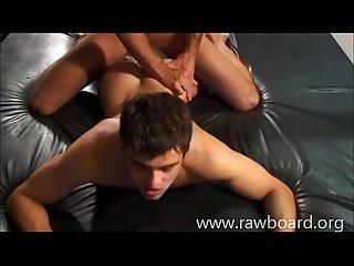 Triple bareback fuck