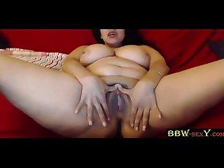 Sexy busty latina bbw destiny diaz masturbates a wet pussy bbw sexy period com