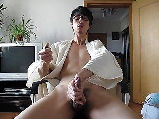 Sexy guy masturbating