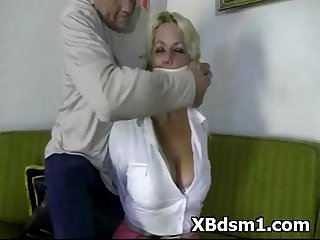 Wild naughty gal in tempting bdsm and hardcore