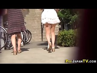 Real asians public piss