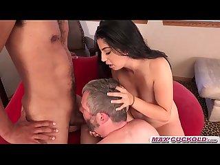 Maxcuckold com busty brunette cuckold