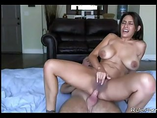 Rough Sex with Hairy Pussy Big Tit Latina