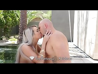 Puremature Milf brooke paige pool blowjob outdoors with anal