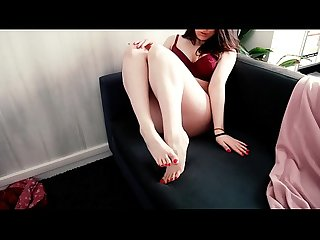 Foot fetish buttplug trish collins lets you see her feet and buttplug