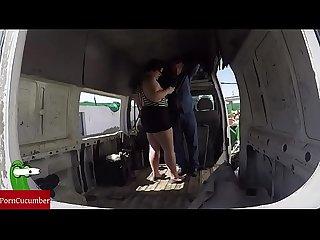 Enculada a la gorda en una furgoneta abandonada vdeo voyeur con cmara gui022
