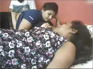 Indian two chubby girls with lucky guy webcam wowmoyback