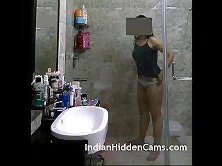Indian girl from delhi filmed naked in shower indianhiddencams com
