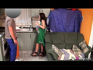 Susana oils herself and then films herself banged by a delivery guy