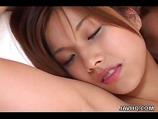 Tempting japanese hottie moans during oral sex