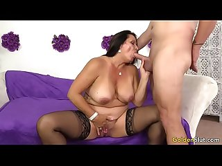 Old woman leylani wood likes young dick