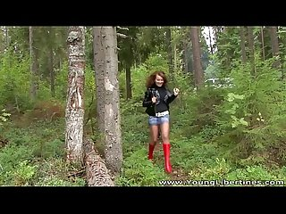 Young Libertines - Forest fuck on a picnics blanket Elona teen-porn