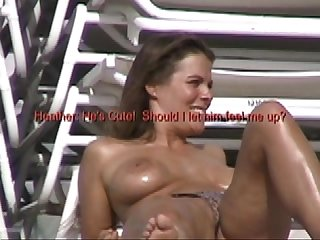 Exhibitionist wife 42 husband dares heather to tease at non nude beach