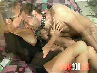 Skinny young asian babe bamboo playing with her slave