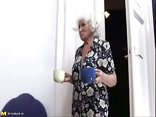 Big tits granny fucking