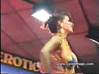 Brunette Dancer Shows Her Tits