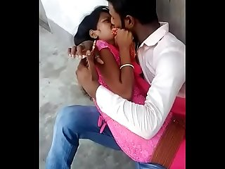 Desi love romance in garden