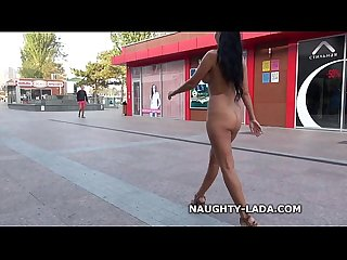 Morning walk nude in public