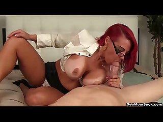 Seemomsuck redhead milf pov blowjob