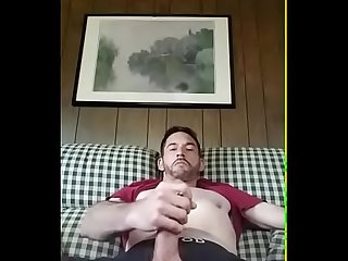 Macho jerking and shooting