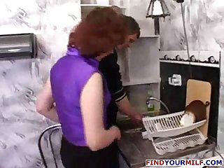 Mature mother seduce her son